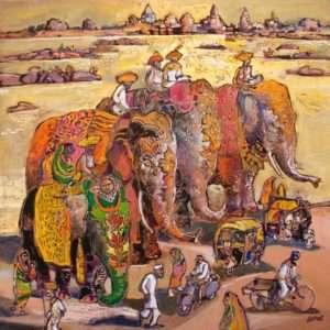 Le convoi de Jahangir ou les miroitements de la Betwa