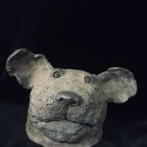 Tête de chien (bronze)